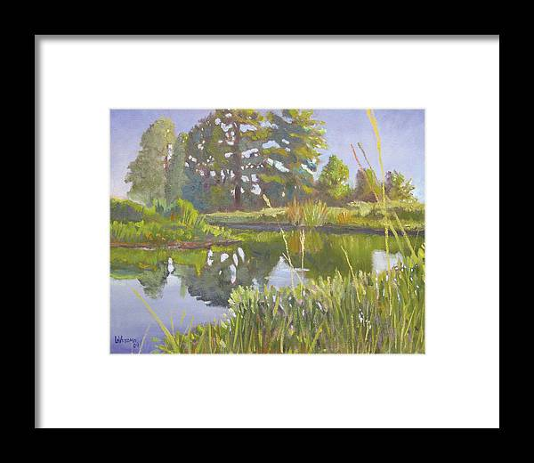 River Framed Print featuring the painting Cross Creek by D T LaVercombe