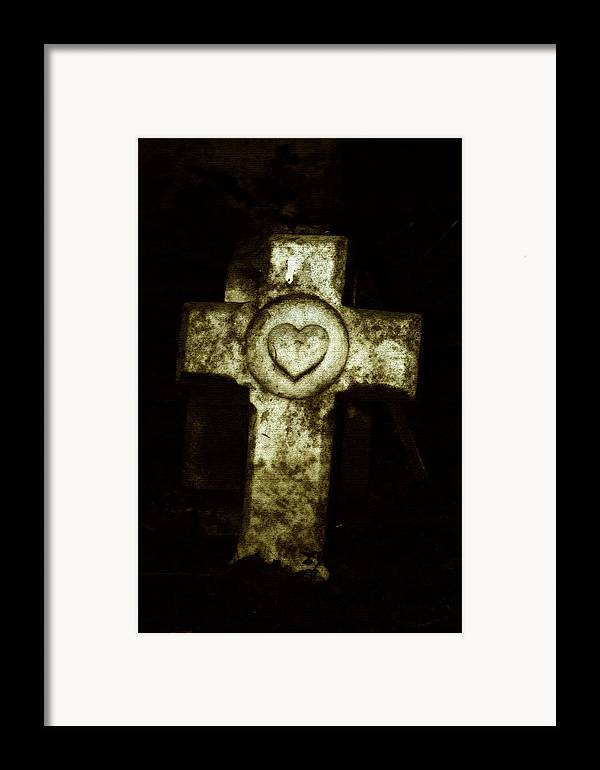 Cross Framed Print featuring the photograph Cross My Heart by Carl Perry