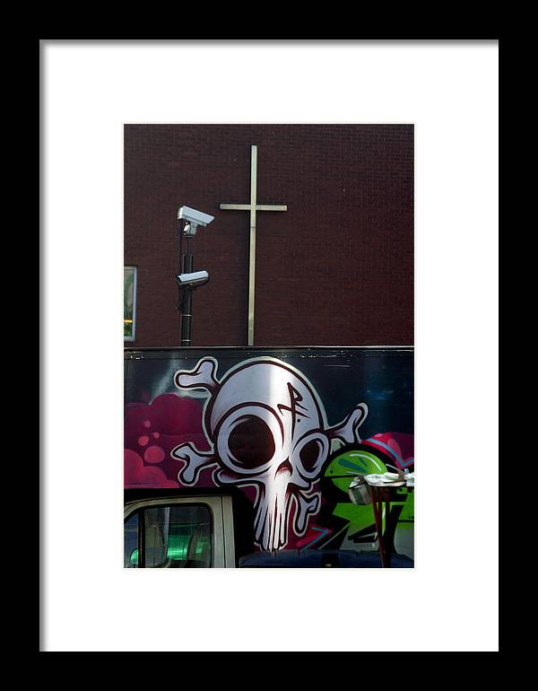 Jez C Self Framed Print featuring the photograph Cross Of Death by Jez C Self