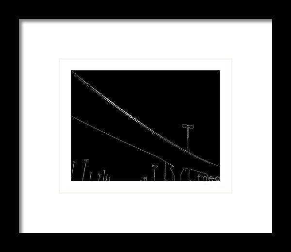 Bridge Framed Print featuring the digital art Cross Over by Hussein Kefel