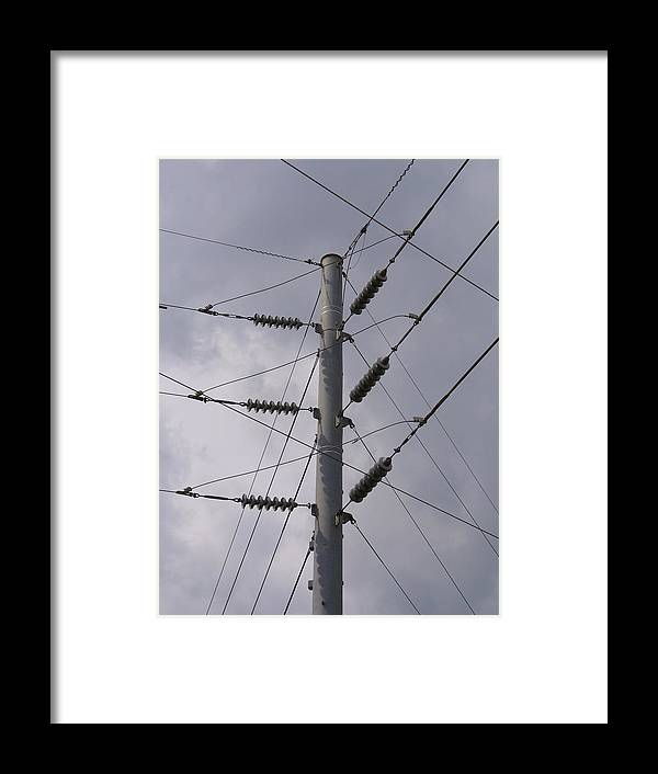 Outdoor Framed Print featuring the photograph Crossed Wires by Stephanie Richards