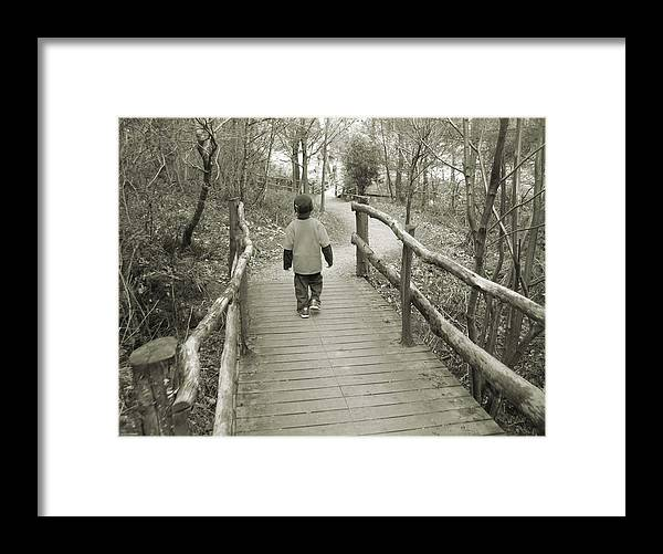 Scenic Framed Print featuring the photograph Crossing by LeeAnn Alexander