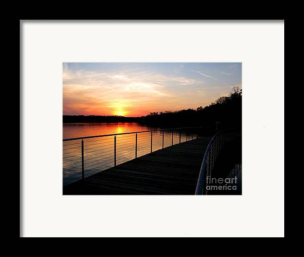 Water Framed Print featuring the photograph Crossing The Bridge by PJ Cloud