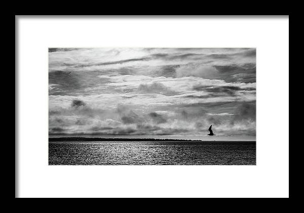 River Framed Print featuring the photograph Crossing The Megler by Sara Absher