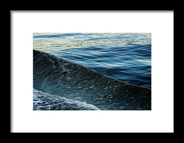 Wave Framed Print featuring the photograph Crossing Waves by John Gagnon