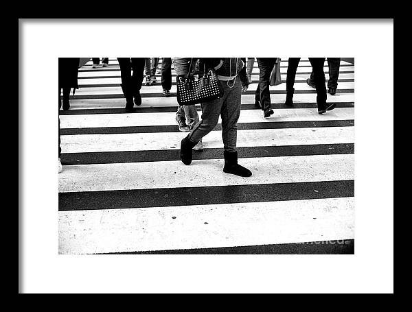 Crossings Framed Print featuring the photograph Crossings 147 by John Rizzuto
