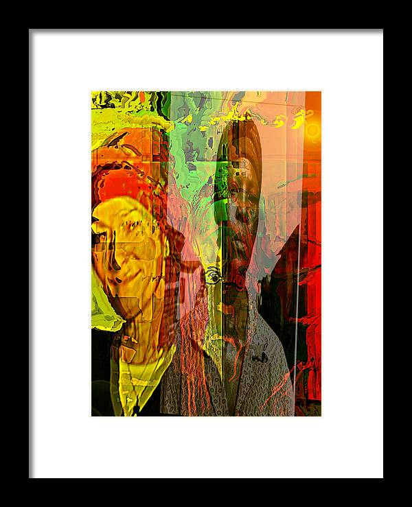 Human Compostion Framed Print featuring the painting Crossroad by Noredin Morgan