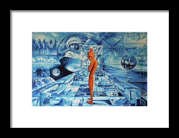 Native American Indian Art Framed Print featuring the painting Crossroads by DC Houle