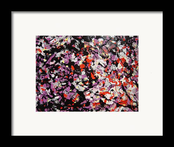 Framed Print featuring the painting Crowd by Biagio Civale