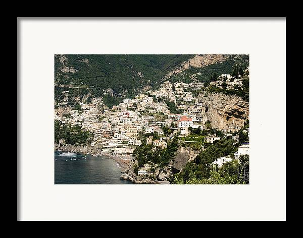 Amalfi Framed Print featuring the photograph Crowded Slopes Of Amalfi by Charles Ridgway