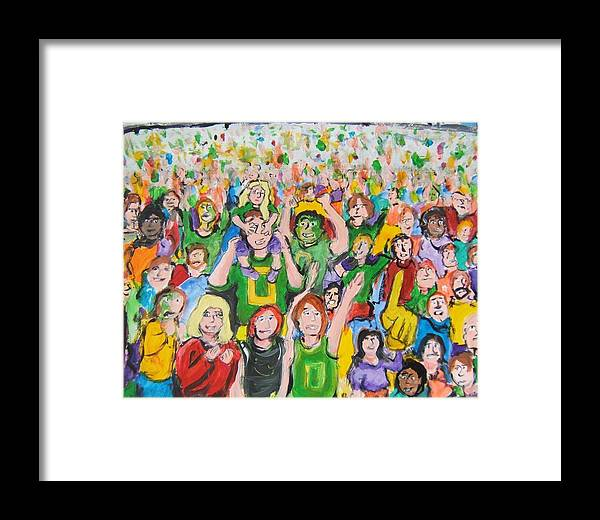 Crowded Framed Print featuring the painting Crowds by Todd Artist