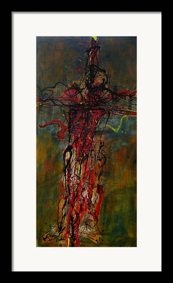 Cross Framed Print featuring the painting Crucified by Paul Freidin
