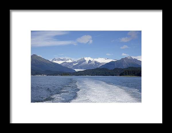 Cruise Ship Mountains Framed Print featuring the photograph Cruise Ship Mountains by Richard J Cassato