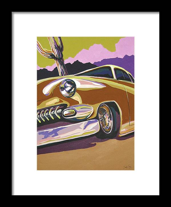 Route 66 Framed Print featuring the painting Cruisin by Sandy Tracey