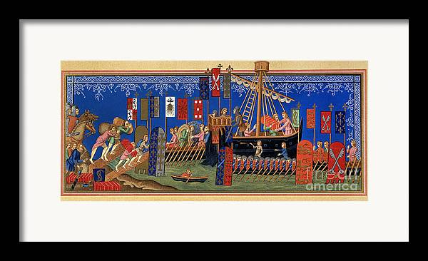 14th Century Framed Print featuring the painting Crusades 14th Century by Granger