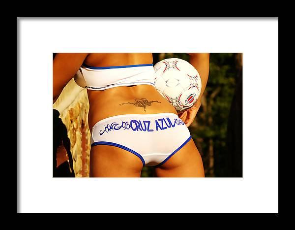 Female Framed Print featuring the photograph Cruz Azul by Tom Miles