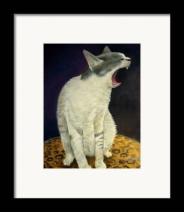 Cat Framed Print featuring the painting Cry Baby by Scott Plaster