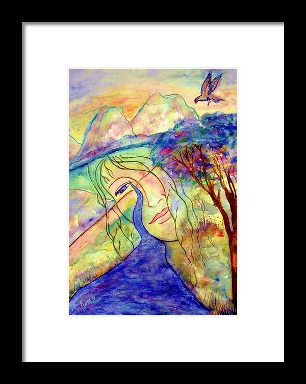 Spirituality Framed Print featuring the painting Cry Me A River by Robin Monroe