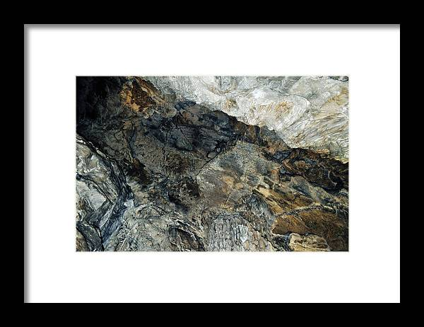 Sequoia National Park Framed Print featuring the photograph Crystal Cave Marble Ceiling by Kyle Hanson