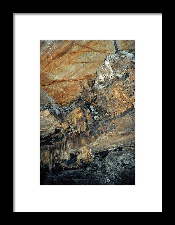Sequoia National Park Framed Print featuring the photograph Crystal Cave Marble Portrait by Kyle Hanson