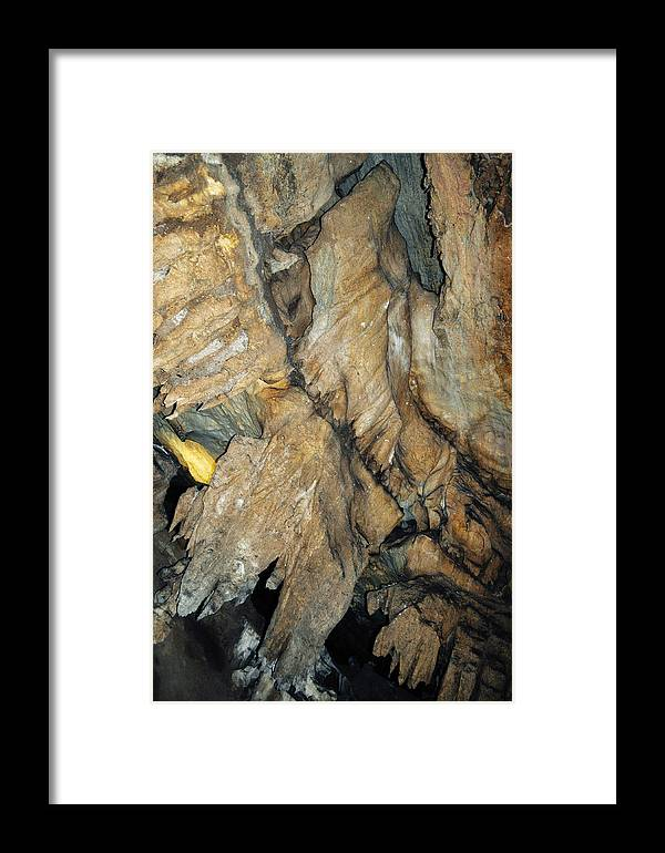 Sequoia National Park Framed Print featuring the photograph Crystal Cave Wall Formations by Kyle Hanson
