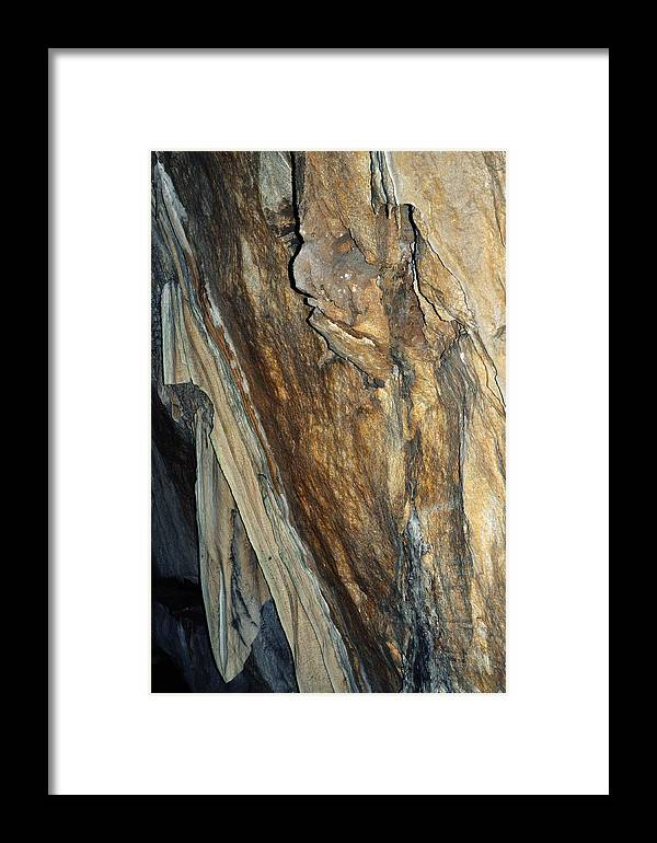 Sequoia National Park Framed Print featuring the photograph Crystal Cave Walls by Kyle Hanson