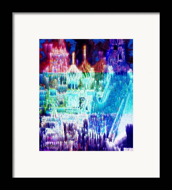 Northern Lights Framed Print featuring the digital art Crystal City by Seth Weaver