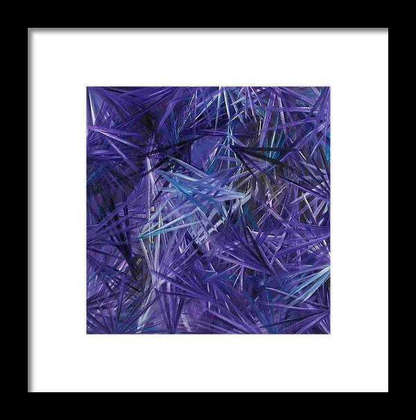 Crystal Framed Print featuring the painting Crystal Clear 2 by Karen Rester