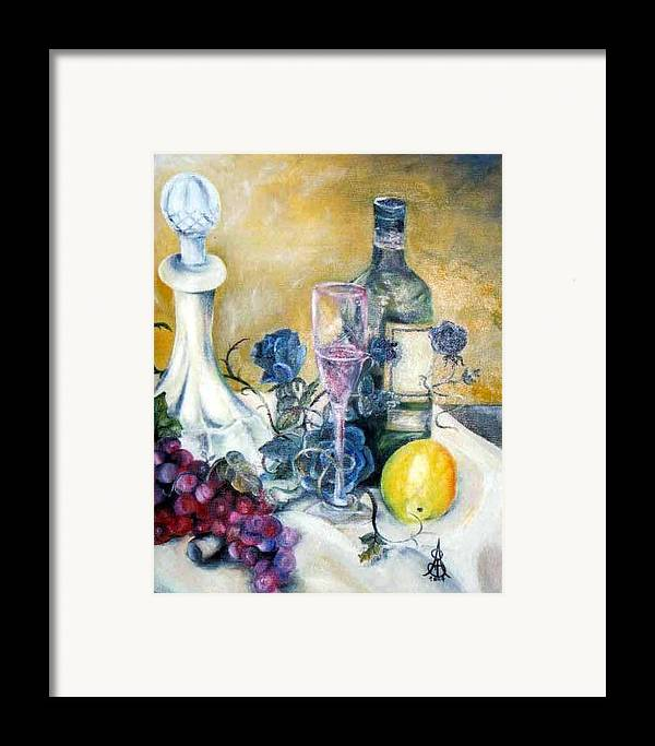 Still Life Framed Print featuring the painting Crystal Clear by Amanda Sanford