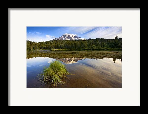 Lake Framed Print featuring the photograph Crystal Clear by Mike Dawson