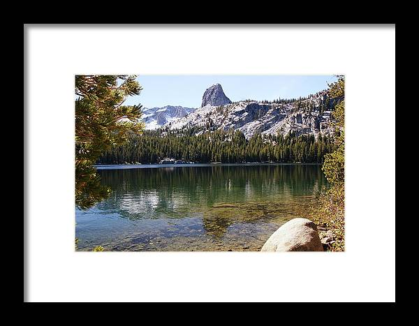 Granite Framed Print featuring the photograph Crystal Crag by Michael Courtney