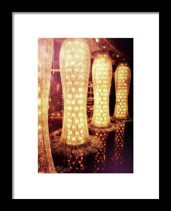 Vegas Framed Print featuring the photograph Crystal Dresses by JAMART Photography