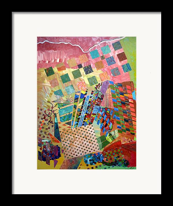 Crystal Framed Print featuring the painting Crystal Energy by Eric Devan