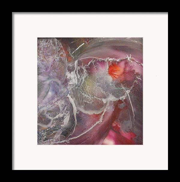 Abstract Framed Print featuring the painting Crystal Fountain by John Vandebrooke