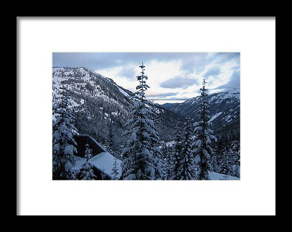Crystal Mountain Ski Resort Framed Print featuring the photograph Crystal Mountain Dawn by Lorraine Devon Wilke