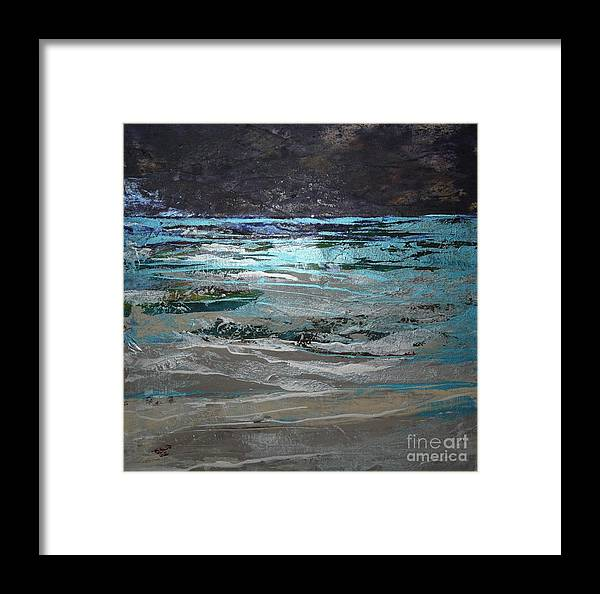 Acrylic Framed Print featuring the painting Crystal Sea by Donna McLarty