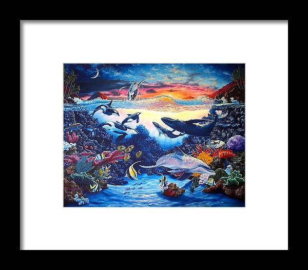 Whale Framed Print featuring the painting Crystal Shore by Daniel Bergren