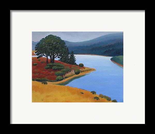 Reservior Framed Print featuring the painting Crystal Springs by Gary Coleman