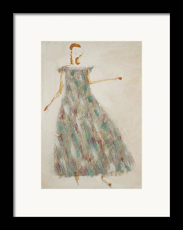 Woman Framed Print featuring the drawing Crystallizing... by Kseniya Nelasova