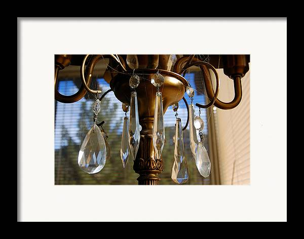 Photograhpy Framed Print featuring the photograph Crystals And Webs by Heather S Huston