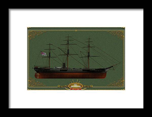 Framed Print featuring the digital art CSS Shenandoah by The Collectioner