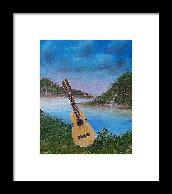 Cuatro Series Framed Print featuring the painting Cuatro by Tony Rodriguez