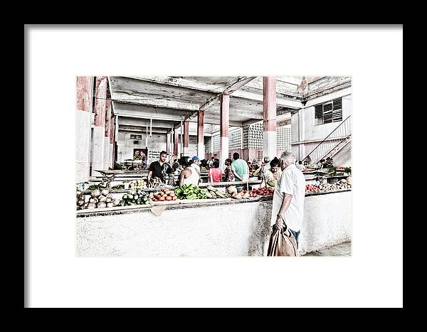 Cuba Framed Print featuring the photograph Cuba Market by Sharon Popek