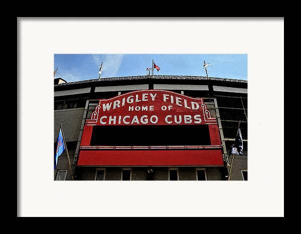 Wrigley Field Framed Print featuring the digital art Cub's House by Lyle Huisken