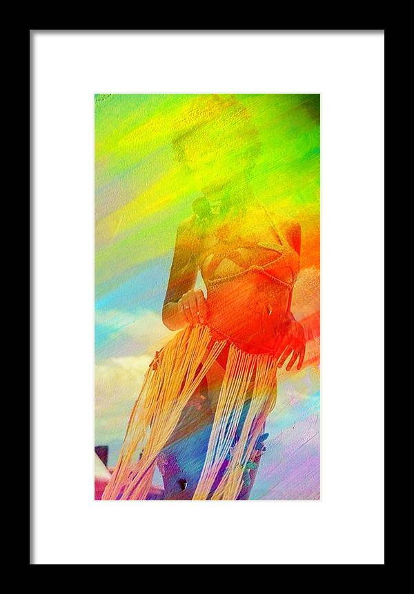 Culture Framed Print featuring the painting Cultural Dance by Romeo Kyeremateng