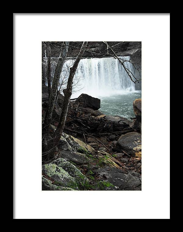 Cumberland Falls Framed Print featuring the photograph Cumberland Falls Ky One by Steven Crown