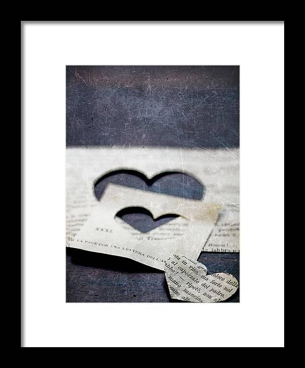 Paper Framed Print featuring the photograph Cuori Persi by Rebecca Cozart