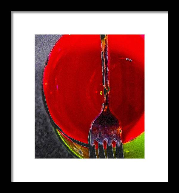 Abstract Framed Print featuring the digital art Cup Of Color by Alpha Pup