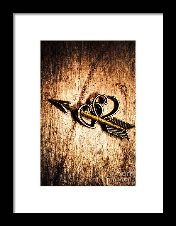 Heart Framed Print featuring the photograph Cupid Arrow And Hearts by Jorgo Photography - Wall Art Gallery