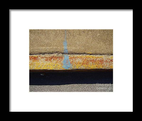 Abstract Framed Print featuring the photograph Curb by Flavia Westerwelle